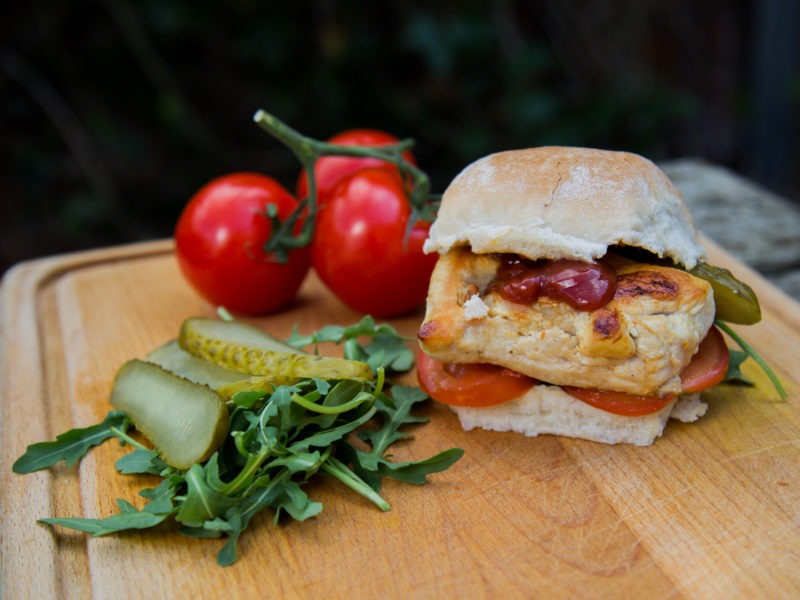 Low Carbon Eating - E.Mission - Chicken Burger