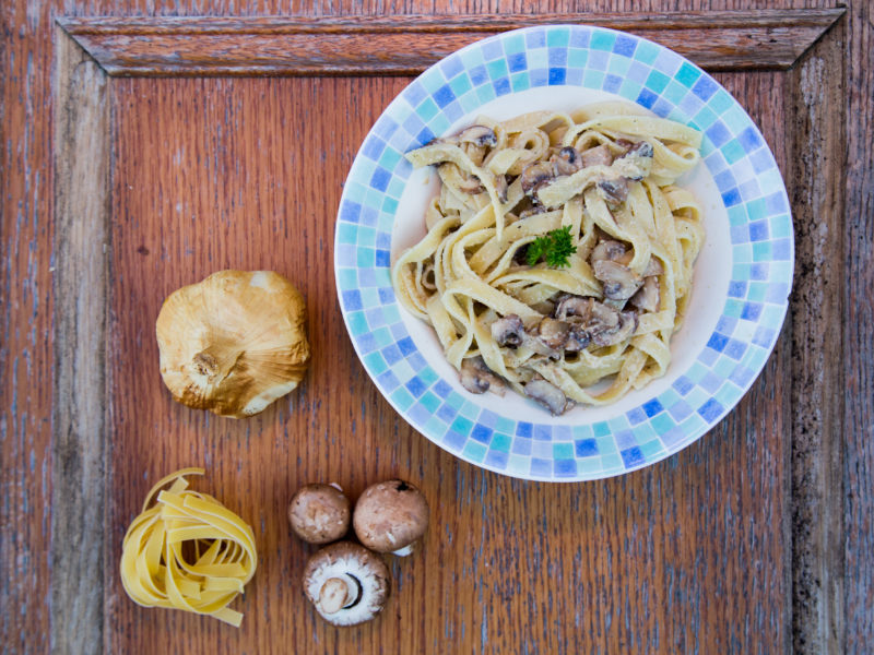 Low Carbon Eating - E.Mission - Mushroom Tagliatelle