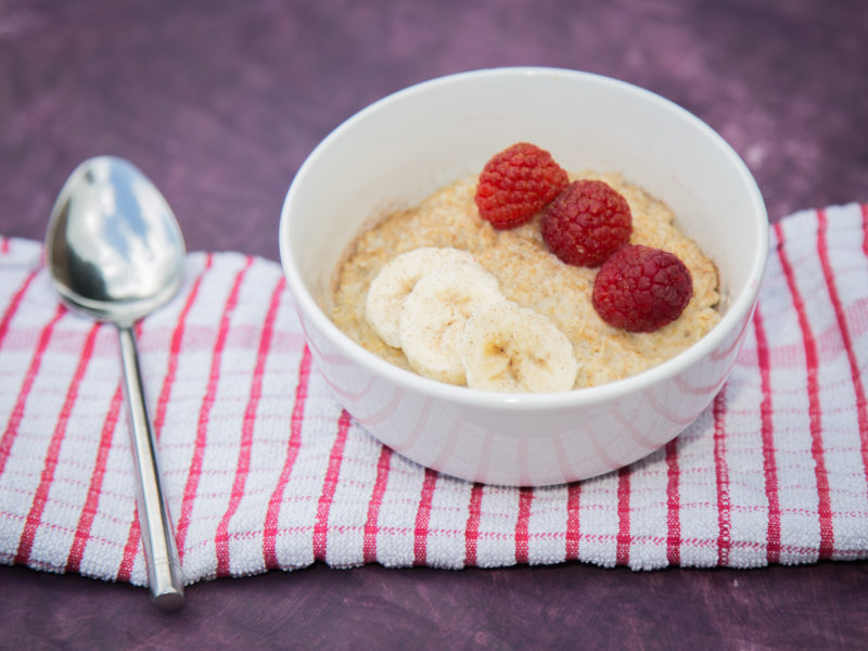 Low Carbon Eating - E.Mission - Raspberry Porridge